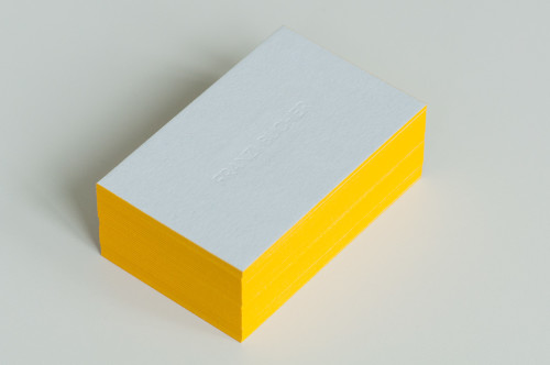 Paul Dieter Letterpress - Visitenkarten - Farbschnitt - Gelb