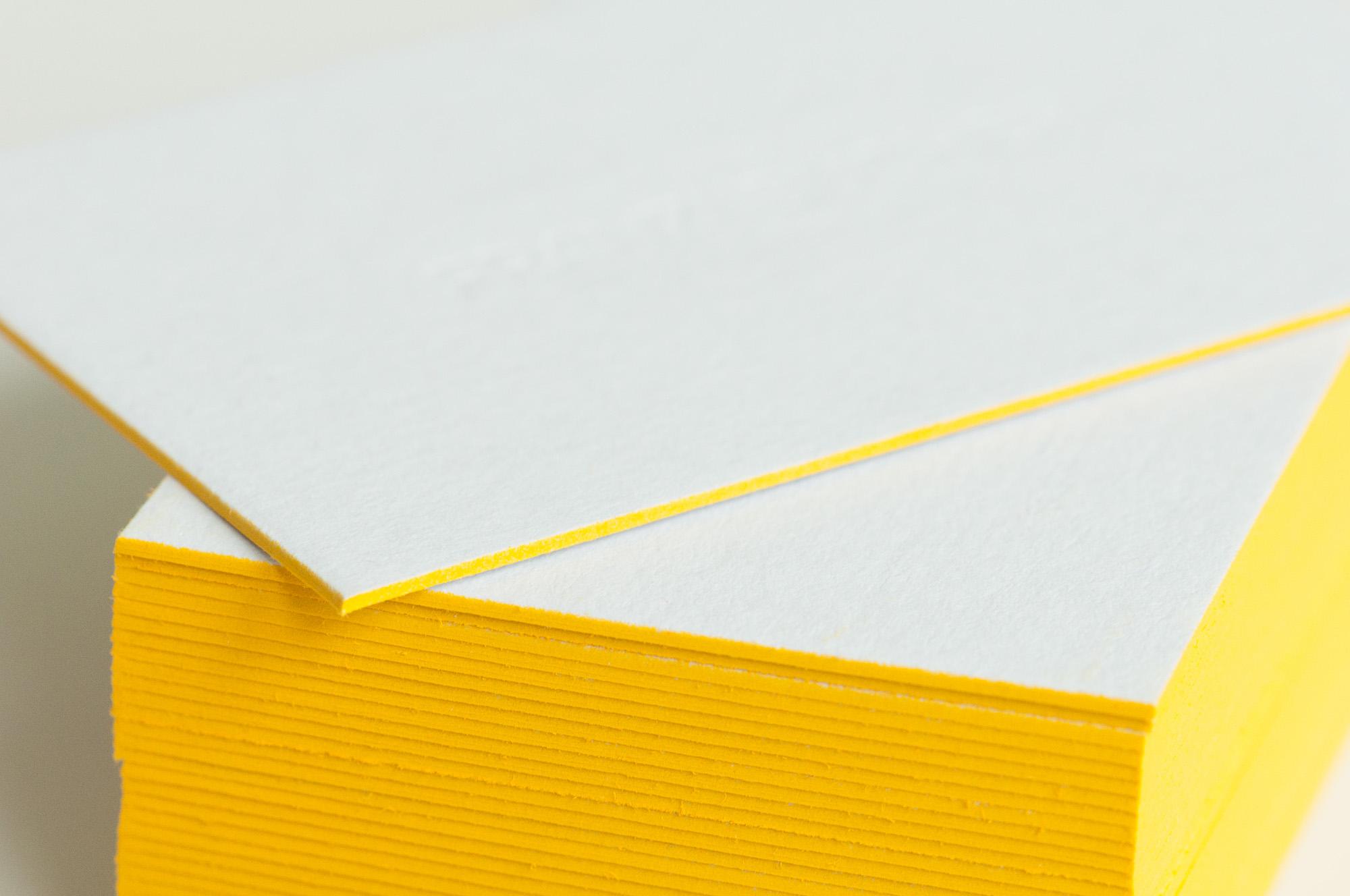 Letterpress Visitenkarten Farbschnitt Paul Dieter