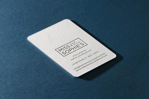 Paul Dieter Letterpress - Visitenkarten - Prägung / Spielkarte