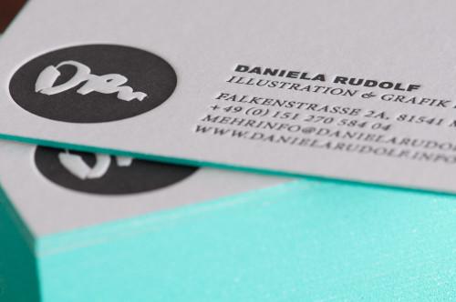 Paul Dieter Letterpress - Visitenkarten - Farbschnitt Mint / Papier Colorplan