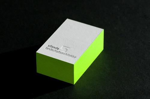 Paul Dieter Letterpress - Visitenkarten - Farbschnitt - Grün