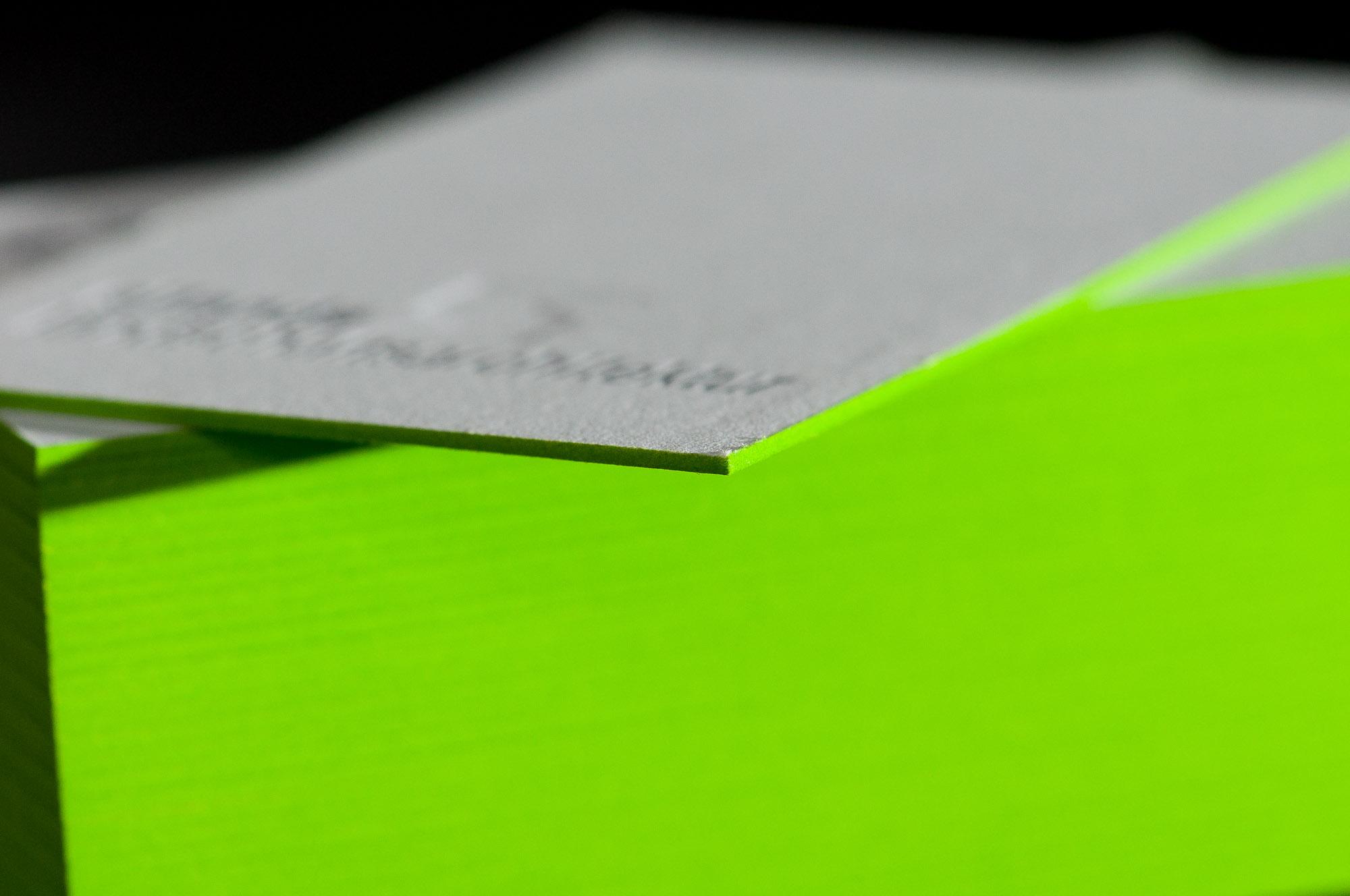 Letterpress Farbschnitt Visitenkarten Paul Dieter