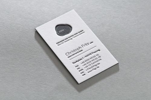 Paul Dieter Letterpress - Visitenkarten - Farbschnitt schwarz / Büttenpapier / Cotton