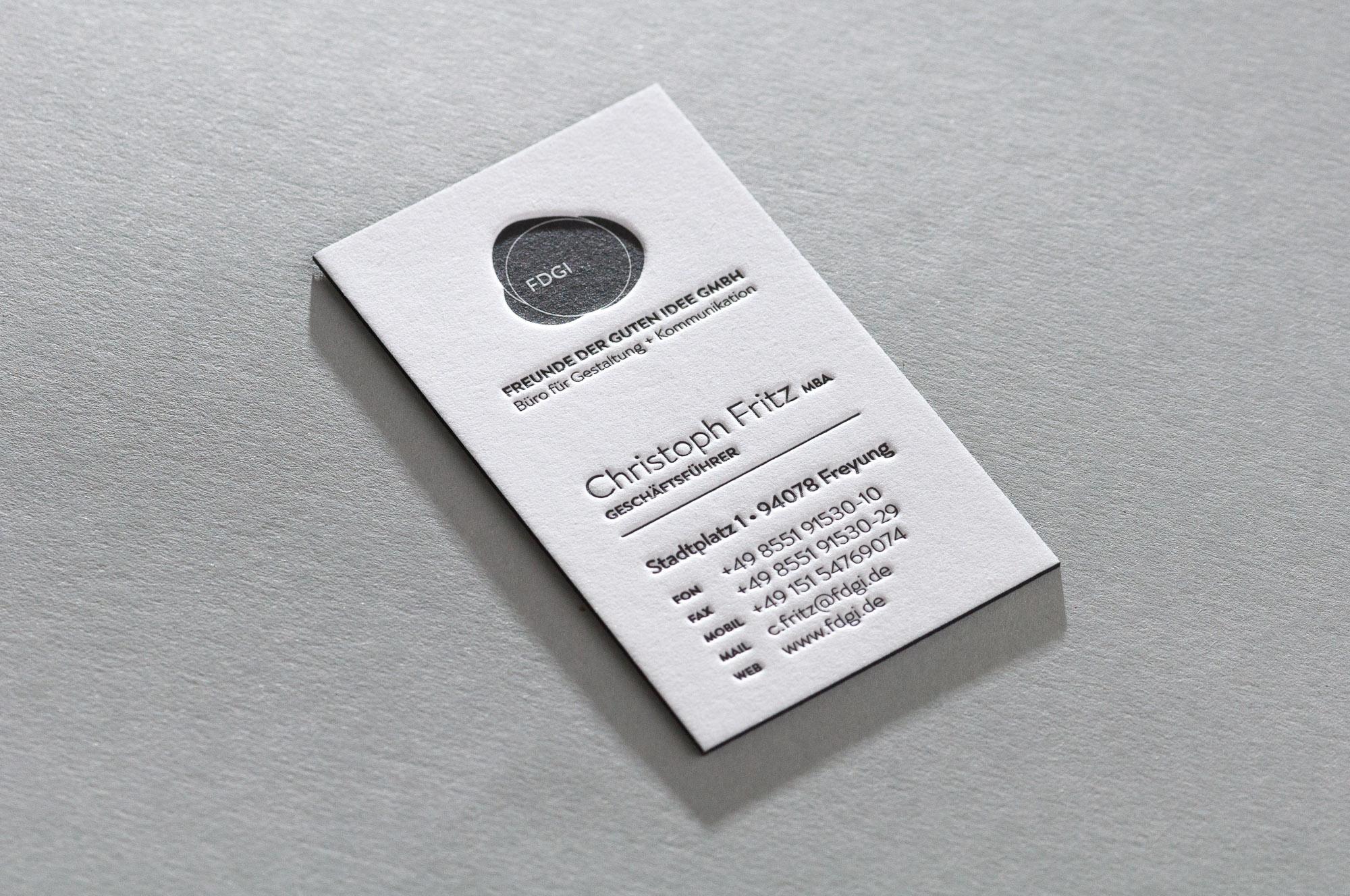 Letterpress Visitenkarten Paul Dieter Letterpress