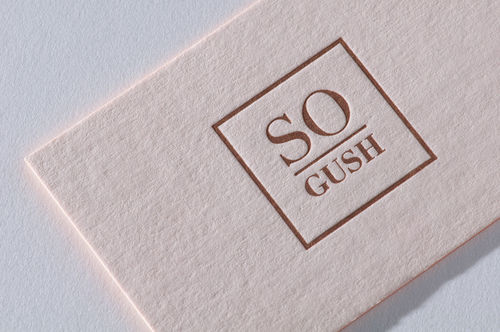 Paul Dieter Letterpress - Visitenkarten - Farbschnitt - Bronze - Rosa