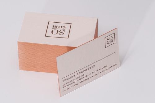 Paul Dieter Letterpress - Visitenkarten - Farbschnitt - Bronze