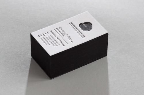 Paul Dieter Letterpress - Visitenkarten - Farbschnitt - Schwarz
