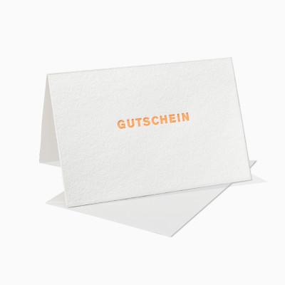 Letterpress Klappkarte / Grußkarte / Karte - Gutschein