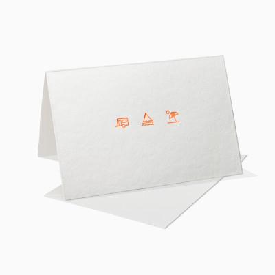 Letterpress Klappkarte / Grußkarte - Urlaub