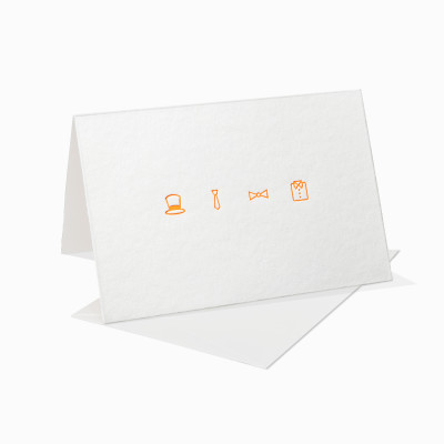 Letterpress Klappkarte / Grußkarte - Feiern Einladung - Neon