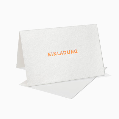 Letterpress Klappkarte / Grußkarte / Karte - Einladung