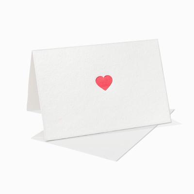 Letterpress Klappkarte / Grußkarte / Karte - Großes Herz