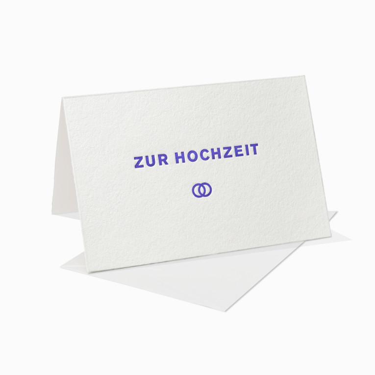 Letterpress Grußkarten / Klappkarte / Hochzeit / Ringe / Einladung