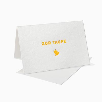 Letterpress Klappkarte / Grußkarte / Karte - Zur Taufe