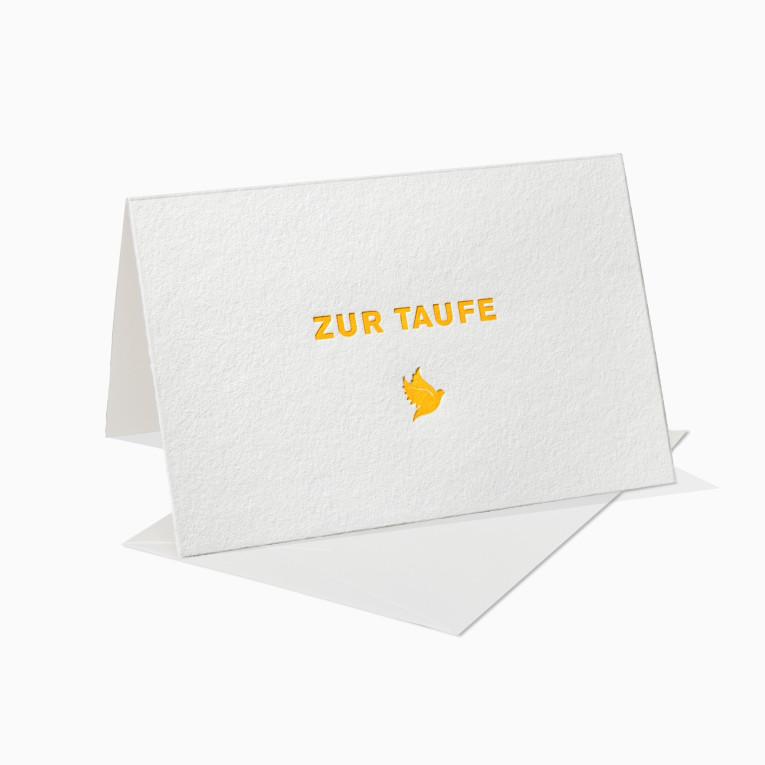 Letterpress Grußkarten / Klappkarte / Taufe