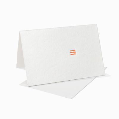 Letterpress Klappkarte / Grußkarte / Karte - Menükarte - Essenseinladung - Einladung Besteck