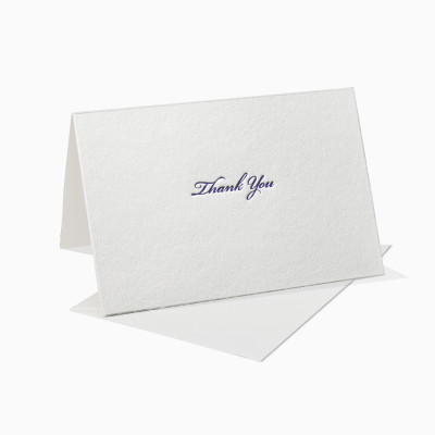 Letterpress Klappkarte / Grußkarte / Karte - Thank You - Schreibschrift