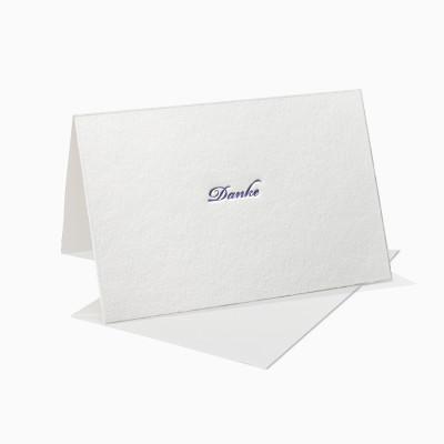 Letterpress Klappkarte / Grußkarte / Karte - Danke - Schreibschrift