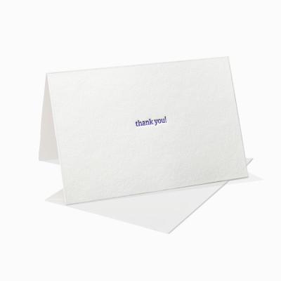 Letterpress Klappkarte / Grußkarte / Karte - thank you - Schreibmaschinenschrift