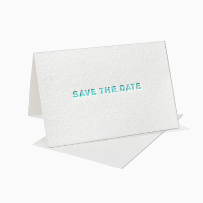 Letterpress Klappkarte / Grußkarte / Karte - Save the Date