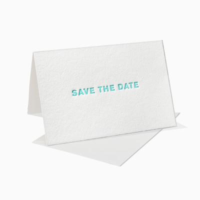 Letterpress Klappkarte / Grußkarte / Karte - Save the Date
