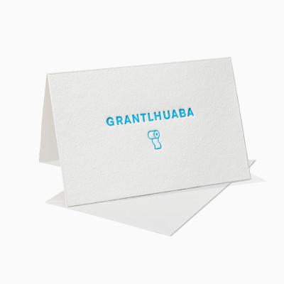 Letterpress Klappkarte / Grußkarte - Bayrisch - Toilette - Klo - Grantlhuaba