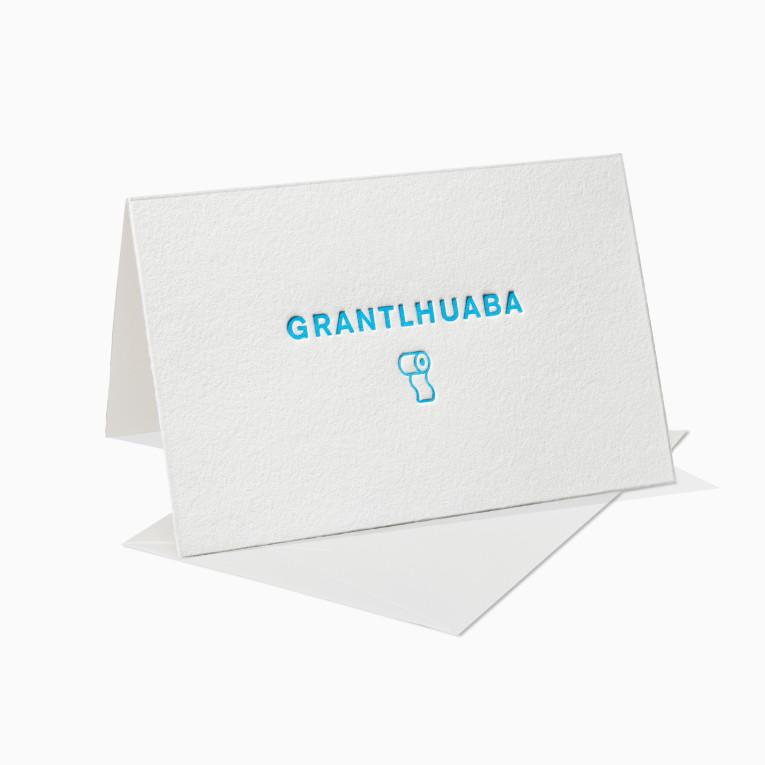 Letterpress Grußkarten / Klappkarte / Grantlhuaba / München / Bayrisch / Bayern / München / Oktoberfest