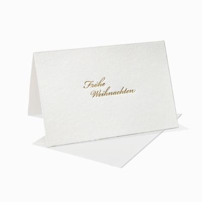 Letterpress Klappkarte / Grußkarte / Karte - Frohe weihanchten - Schreibschrift - Weihnachten