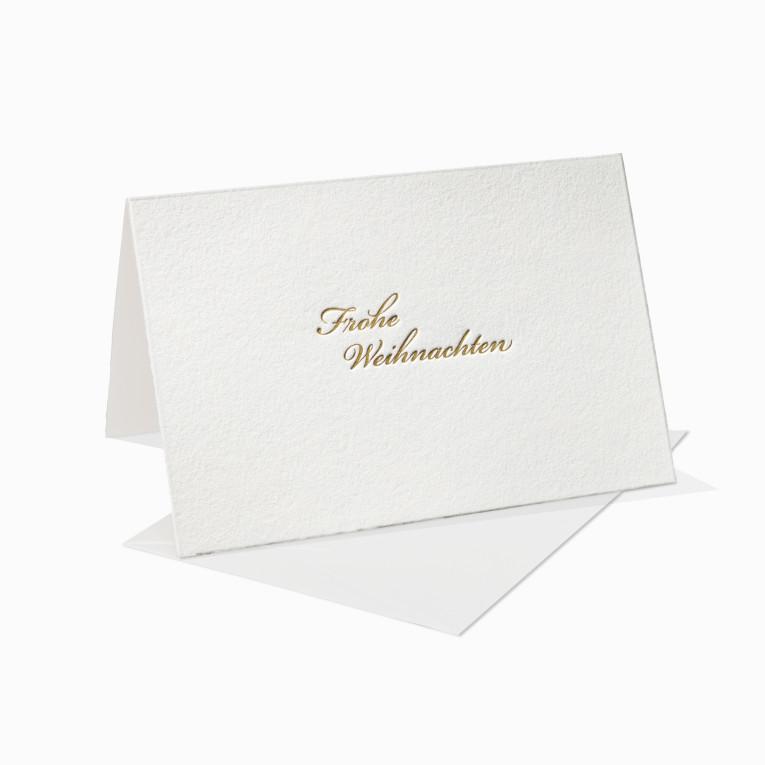 Letterpress Grußkarte / Klappkarte / Frohe Weihnachten