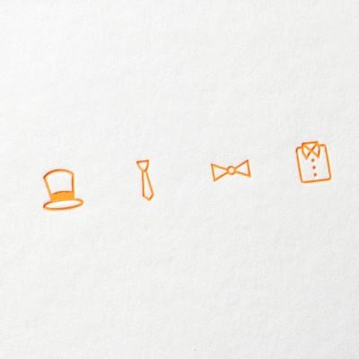 paul-dieter-letterpress_grusskarten_klappkarten_GK00010_party_einladung_hut_kravatte_hemd_schleife_zoom