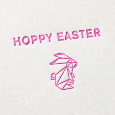paul-dieter-letterpress_grusskarten_klappkarten_GK00041_hoppy-easter_origami_osterhase_neon_ostern_zoom