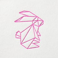 paul-dieter-letterpress_grusskarten_klappkarten_GK00042_osterhase_ostern_origami_neon_ostergruesse_zoom