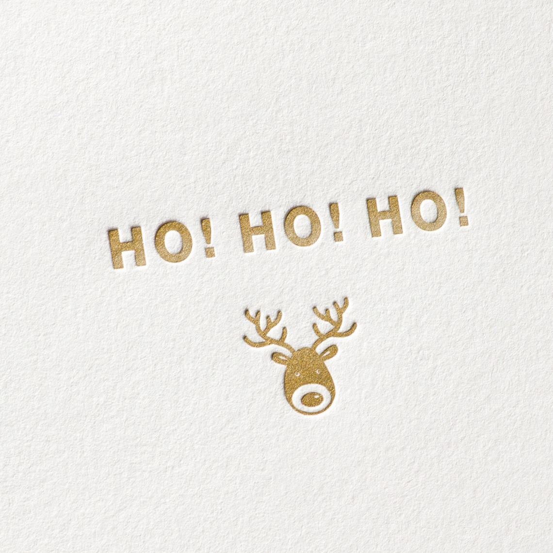 ho ho ho weihnachten letterpress karten paul dieter. Black Bedroom Furniture Sets. Home Design Ideas
