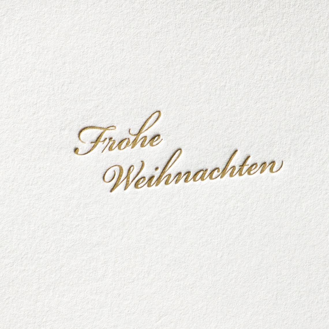 Frohe Weihnachten – Schreibschrift | Letterpress Karten | Paul ...