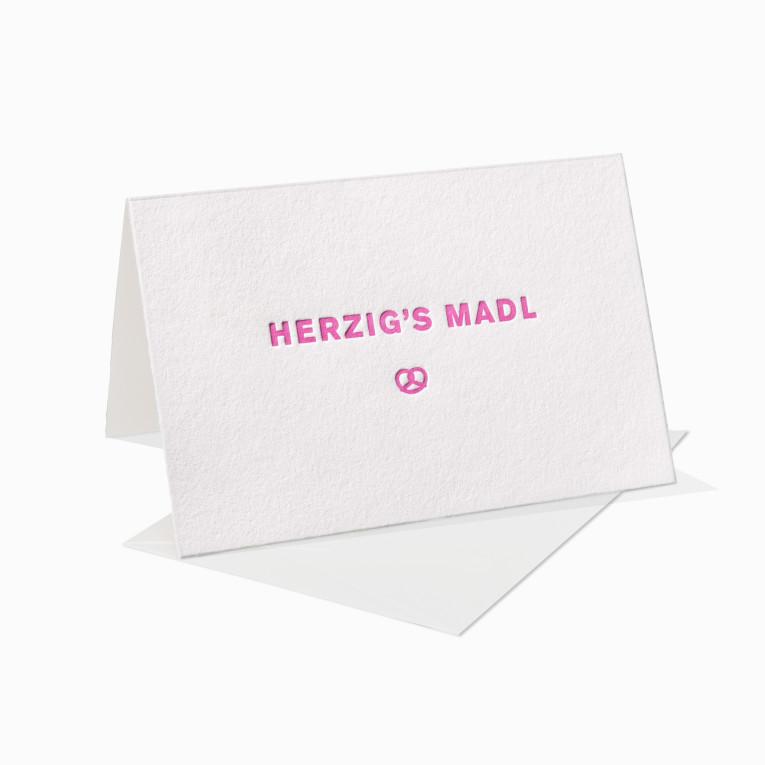 Letterpress Klappkarte / Grußkarte / Karte – Herzig's Madl