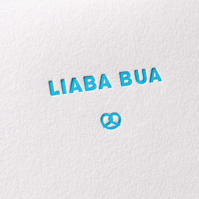 Letterpress Klappkarte / Grußkarte / Karte - Liaba Bua