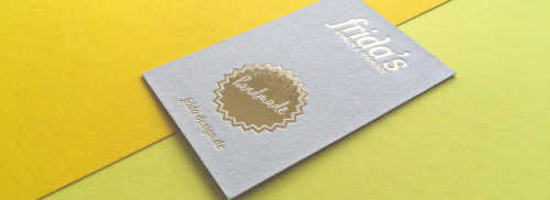 Visitenkarten mit Heissfolienprägung Gold
