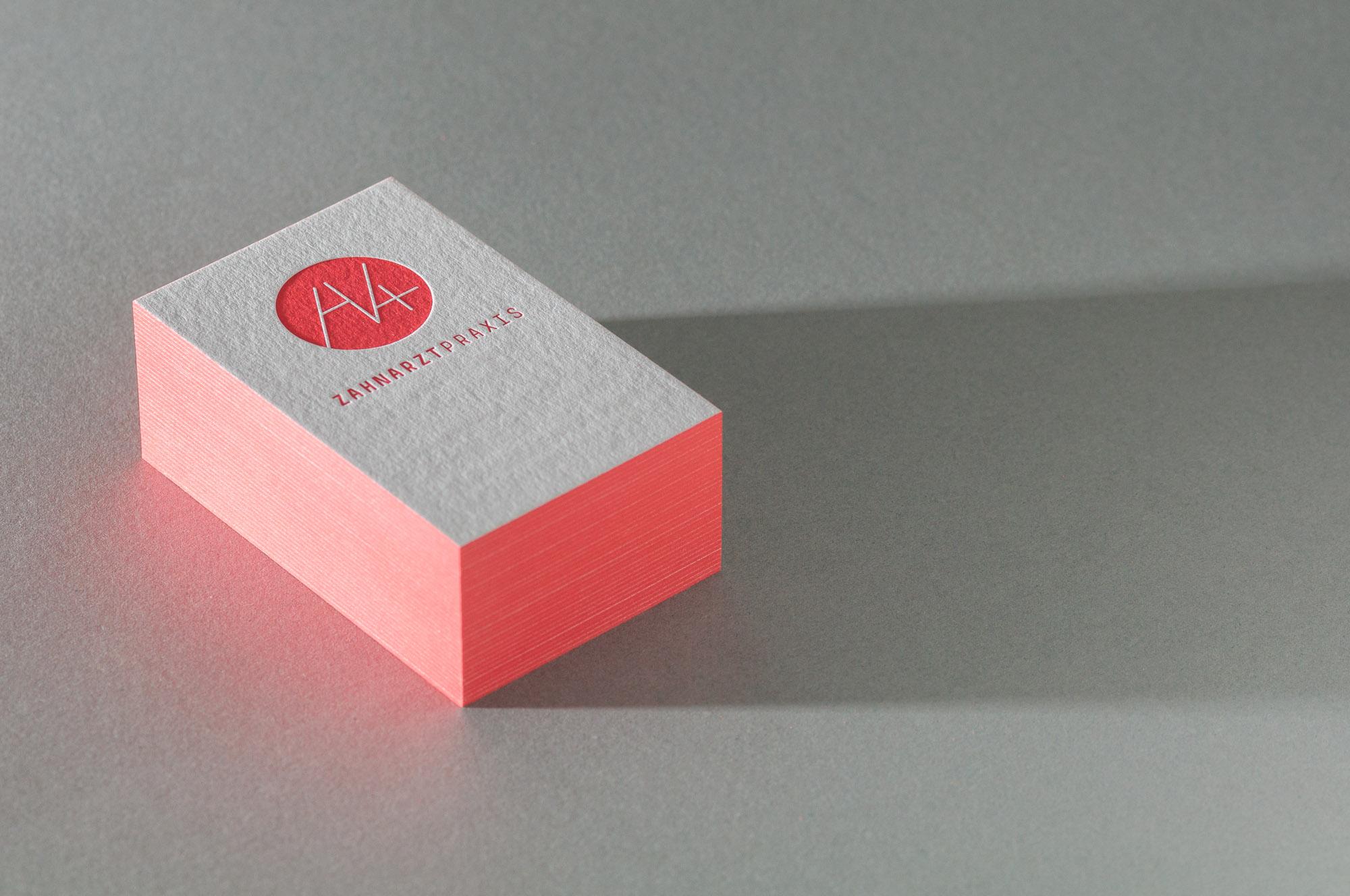 Paul Dieter Letterpress Visitenkarten Farbschnitt