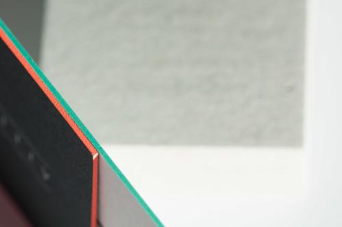 Paul Dieter Letterpress - Visitenkarten - Farbschnitt - Schwarz / Orange / Mint / Türkis