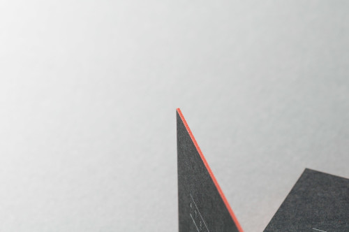 Paul Dieter Letterpress - Visitenkarten - Farbschnitt - Schwarz / Orange