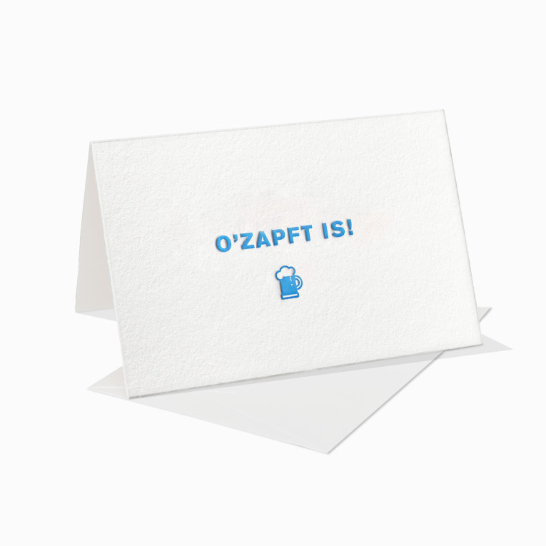 paul-dieter-letterpress_grusskarte_klappkarte_ozapft-is_oktoberfest_wiesn_bayern_bierfest_bier_beer_wiesn_bavaria_munich_muenchen_gk00075